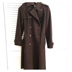 Burberry Wool Trench-Style Pea Coat